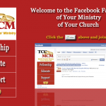 Custom Facebook landing page for ministry screenshot